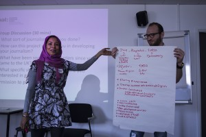 Presenting ideas at induction workshop Photograph by Sara Furlanetto