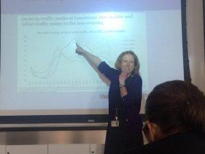 Margaret Holborn illustrates peak time traffic of the Guardian- photo by Azizrahman Omid Azizi